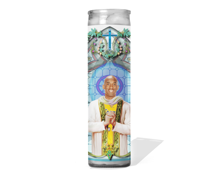 Kobe Bryant Celebrity Prayer Candle - The LA Lakers