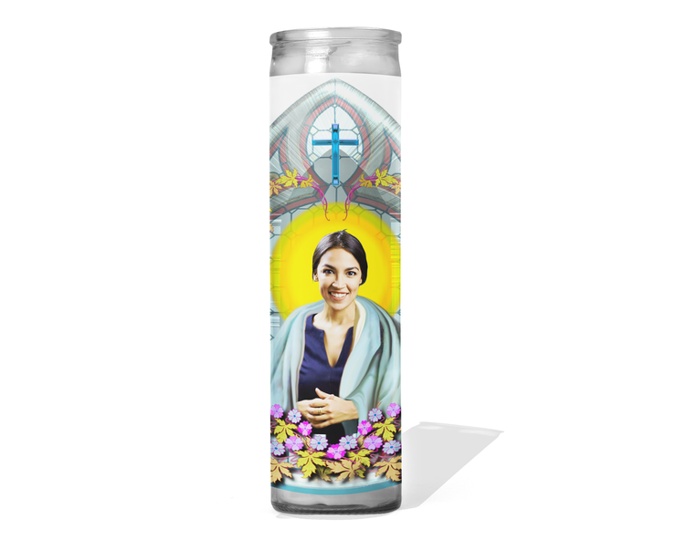 Alexandria Ocasio-Cortez Celebrity Prayer Candle
