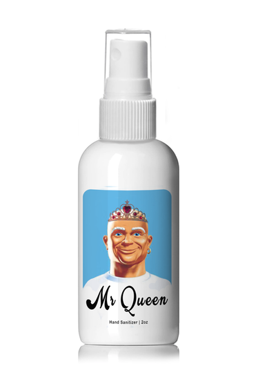 Mr. Queen Hand Sanitizer - 4oz Plastic Spray Bottle