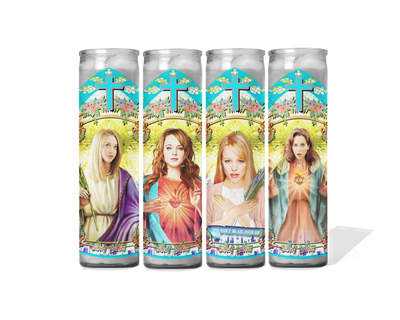 Mean Girls Celebrity Prayer Candles - Set of 4