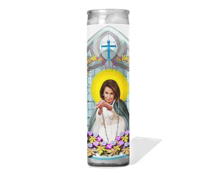 House Speaker Nancy Pelosi Prayer Candle - Clapping for Trump