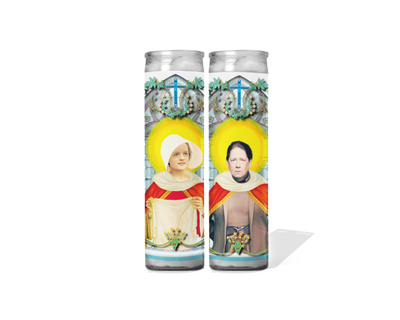 Offred and Aunt Lydia Celebrity Prayer Candles - The Handmaid's Tale Set