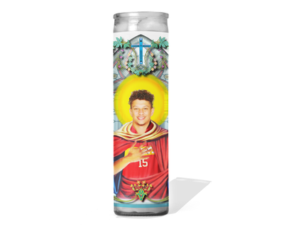 Patrick Mahomes Celebrity Prayer Candle -  Kansas City Chiefs