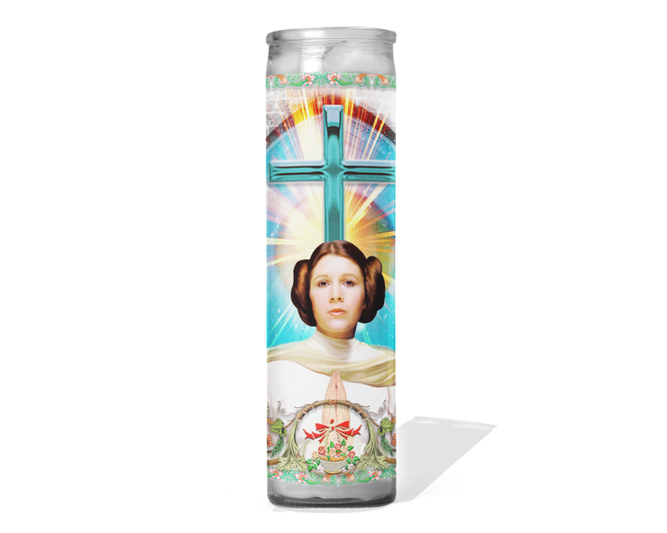 Princess Leia Celebrity Prayer Candle - Carrie Fisher