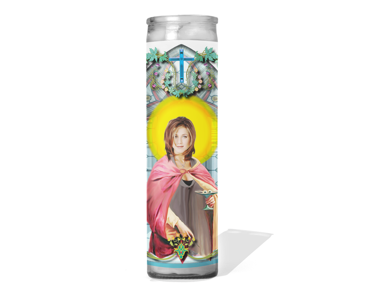 Rachel Green Celebrity Prayer Candle - Friends - Jennifer Aniston