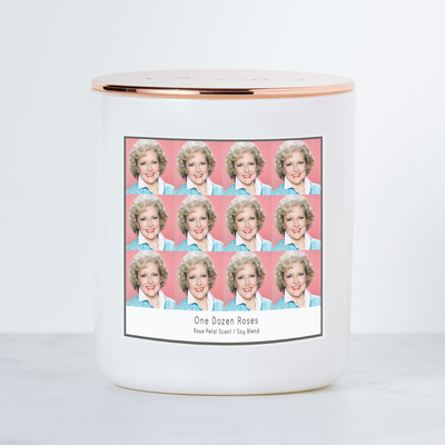 One Dozen Roses - Golden Girls Rose Nylund - Luxe Scented Soy Candle - Rose Petal Gelato