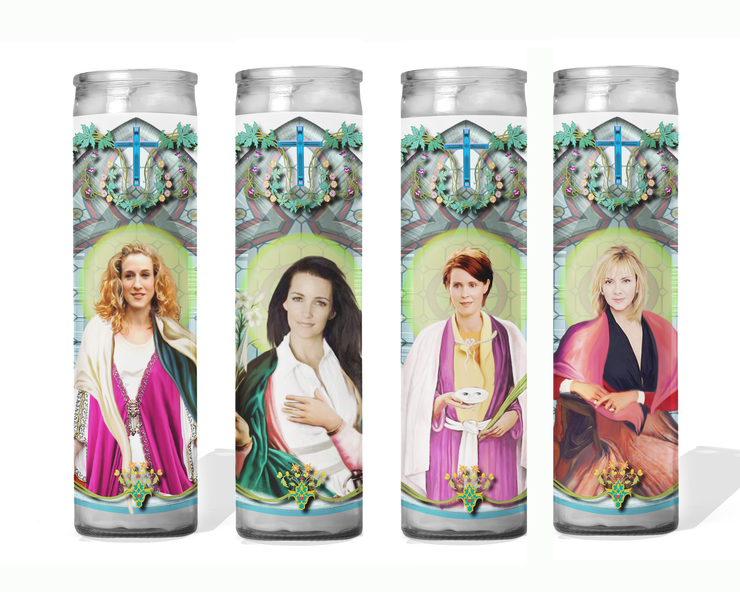 Sex and the City Set of 4 Celebrity Prayer Candles - Carrie, Samantha, Charlotte & Miranda