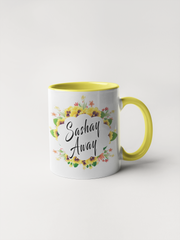 Sashay Away Coffee Mug - Floral Fancy and Delicate