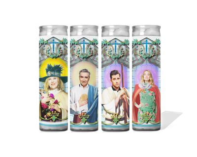Schitt's Creek Celebrity Prayer Candle Set of 4 - Moira, Johnny, David and Alexis