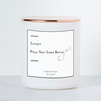 Scorpio - Plays Your Game Better - Luxe Scented Soy Candle - Grapefruit & Mint