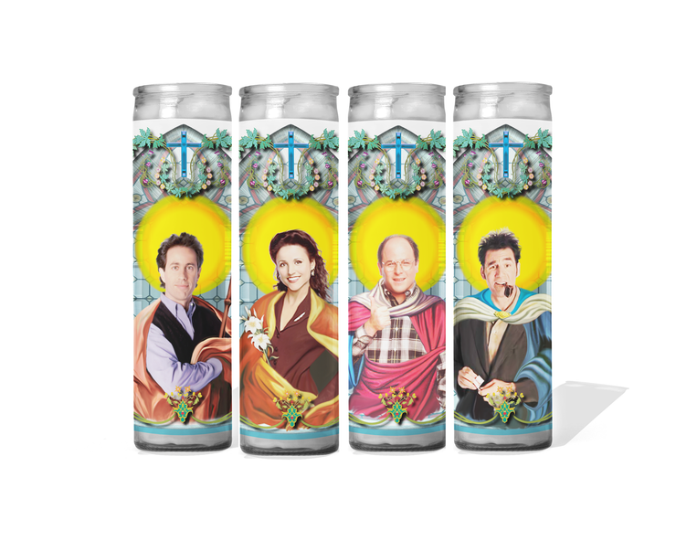 Seinfeld Set of 4 Celebrity Prayer Candles - Jerry Elaine George and Kramer