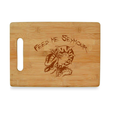 Feed Me Seymour - Bamboo Cutting Board - Little Shop of Horrors