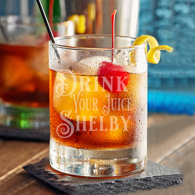 Drink Your Juice Shelby - 10oz Straight-Up Rocks Glass