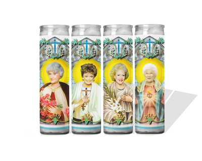 Golden Girls Set of 4 Celebrity Prayer Candles - Blanche Rose Dorothy and Sophia