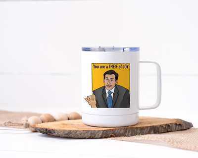 Michael Scott - You Are a Thief of Joy Stainless Steel Travel Mug - The Office