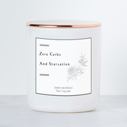 Zero Carbs - Smells like Ketosis - Luxe Scented Soy Candle - Black Raspberry Vanilla