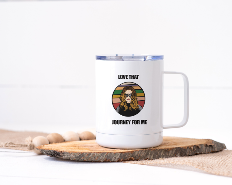 Love That Journey For Me - Schitt's Creek Stainless Steel Travel Mug - Alexis Rose