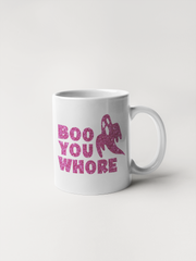 Boo You Whore - Glitter Ghost - Coffee Mug