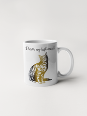 Purrr My Last Email - Cat Coffee Mug
