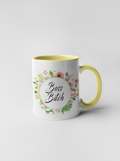Boss Bitch Mug - Floral Fancy and Delicate