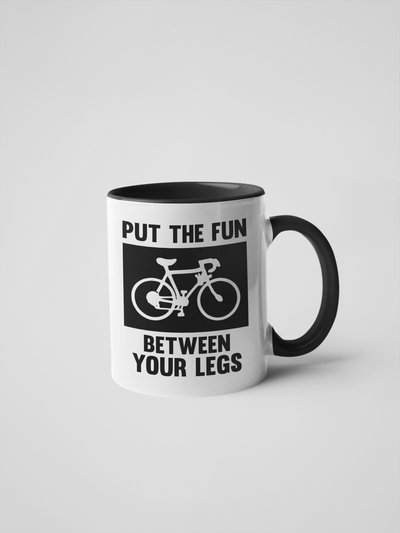 Put the Fun Between Your Legs - Bike/Spin Coffee Mug