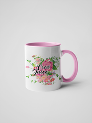 Crew Juice - Floral Delicate and Fancy Flight Attendant Coffee Mug