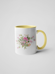Thirsty Hoe Mug - Floral, Delicate and Fancy
