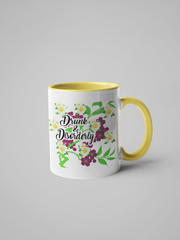 Drunk and Disorderly - Floral Delicate and Fancy Mug
