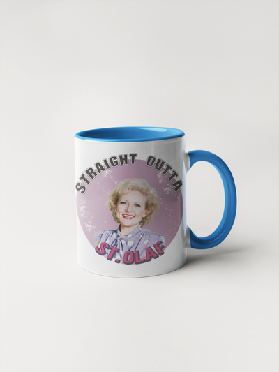 Straight Outta St. Olaf - Golden Girls Mug with Rose Nylund