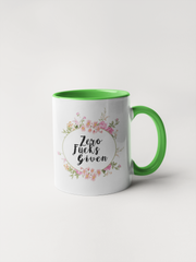 Zero Fucks Given - Floral Delicate and Fancy Coffee Mug