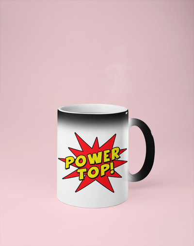 Power Top Color Changing Mug - Reveals Secret Message w/ Hot Water - Adult/Gay Humor