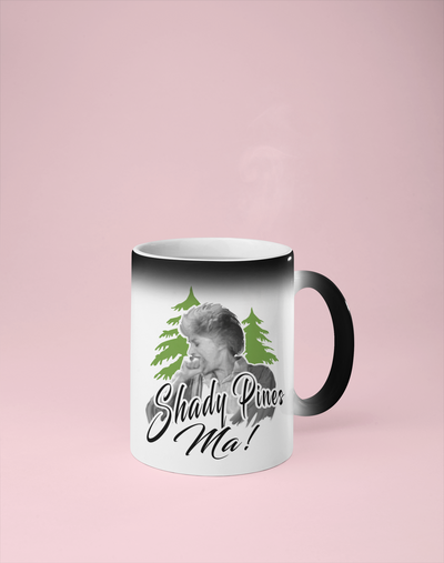 Shady Pines Ma - Golden Girls Color Changing Mug - Reveals Secret Message w/ Hot Water