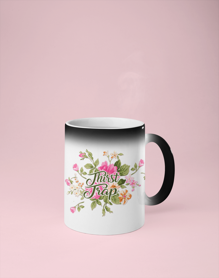 Thirst Trap - Floral Color Changing Mug - Reveals Secret Message w/ Hot Water