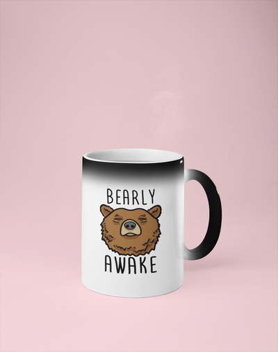 Bearly Awake Color Changing Mug - Reveals Secret Message w/ Hot Water
