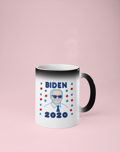 Biden 2020 - Joe Biden Color Changing Mug - Reveals Secret Message w/ Hot Water
