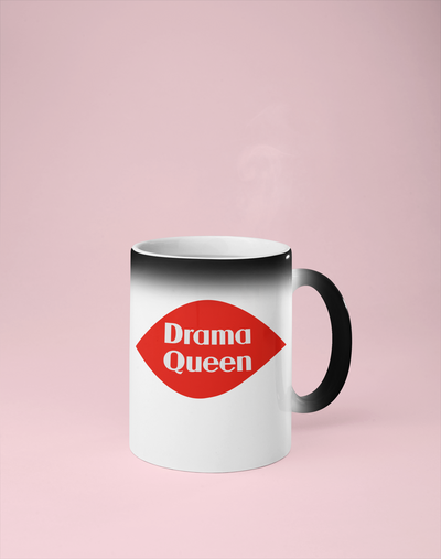 Drama Queen Color Changing Mug - Reveals Secret Message w/ Hot Water