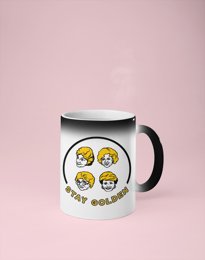 Golden Girls - Stay Golden Color Changing Mug - Reveals Secret Message w/ Hot Water