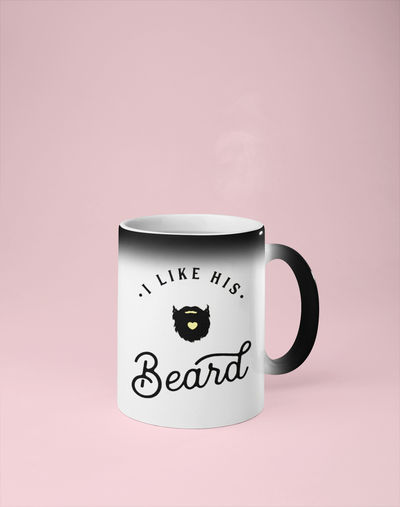 I Like His Beard Color Changing Mug - Reveals Secret Message w/ Hot Water