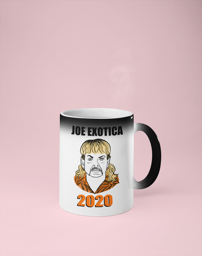 Joe Exotica 2020 Color Changing Mug - Reveals Secret Message w/ Hot Water - Joe Exotic, The Tiger King