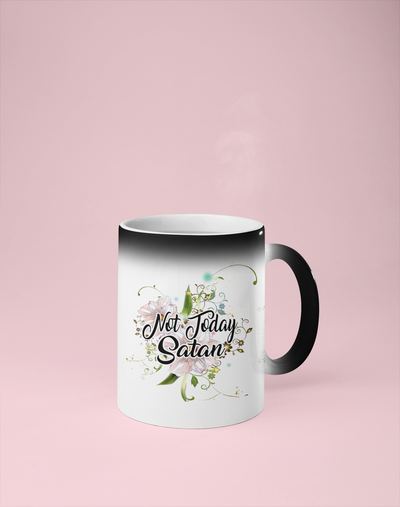Not Today Satan - Color Changing Mug - Reveals Secret Message w/ Hot Water