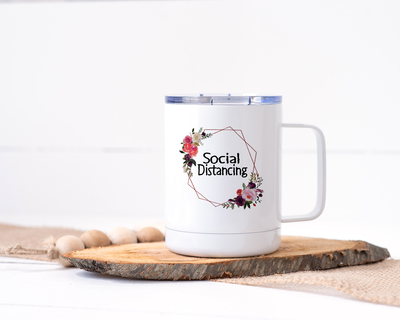 Social Distancing Stainless Steel Travel Mug