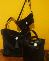 Black Velvet Shopping Bags