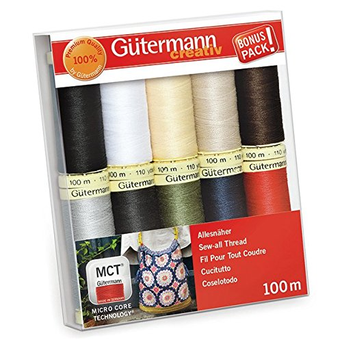 Gutermann Sew-All Classics Set 100% Polyester Thread Set 10 x 100m Reels