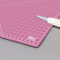 "US Art Supply 24"" x 36"" PINK/BLUE Professional Self Healing 5-Ply Double Sided Durable Non-Slip PVC Cutting Mat Great for Scrapbooking, Quilting, Sewing"