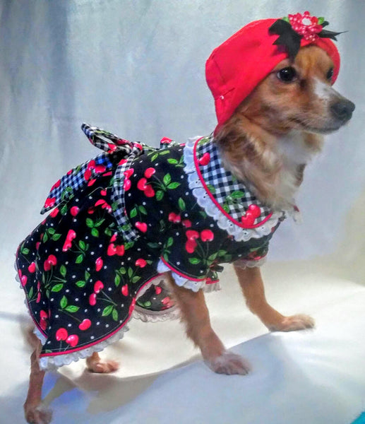 Cherries Dog Dress