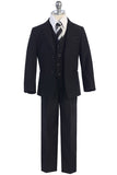 Boys Black Satin Suit-05-Y-75-728-BLK