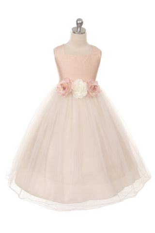 Classic Silk Flower Girl Dress