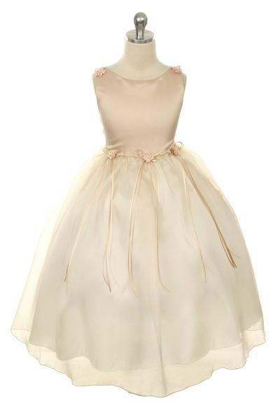 Rosebud Organza Girl Dress