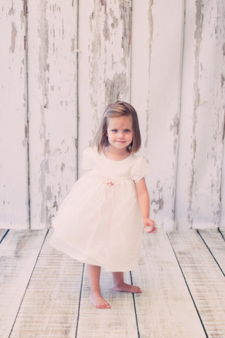 Short Sleeved Lace Baby Dress