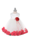 Satin Flower Petal Baby Dress (Ivory Dress)